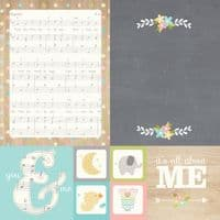 Simple Stories - Hello Baby - 4x4 & 6x8 Elements 12x12 Paper - 3913